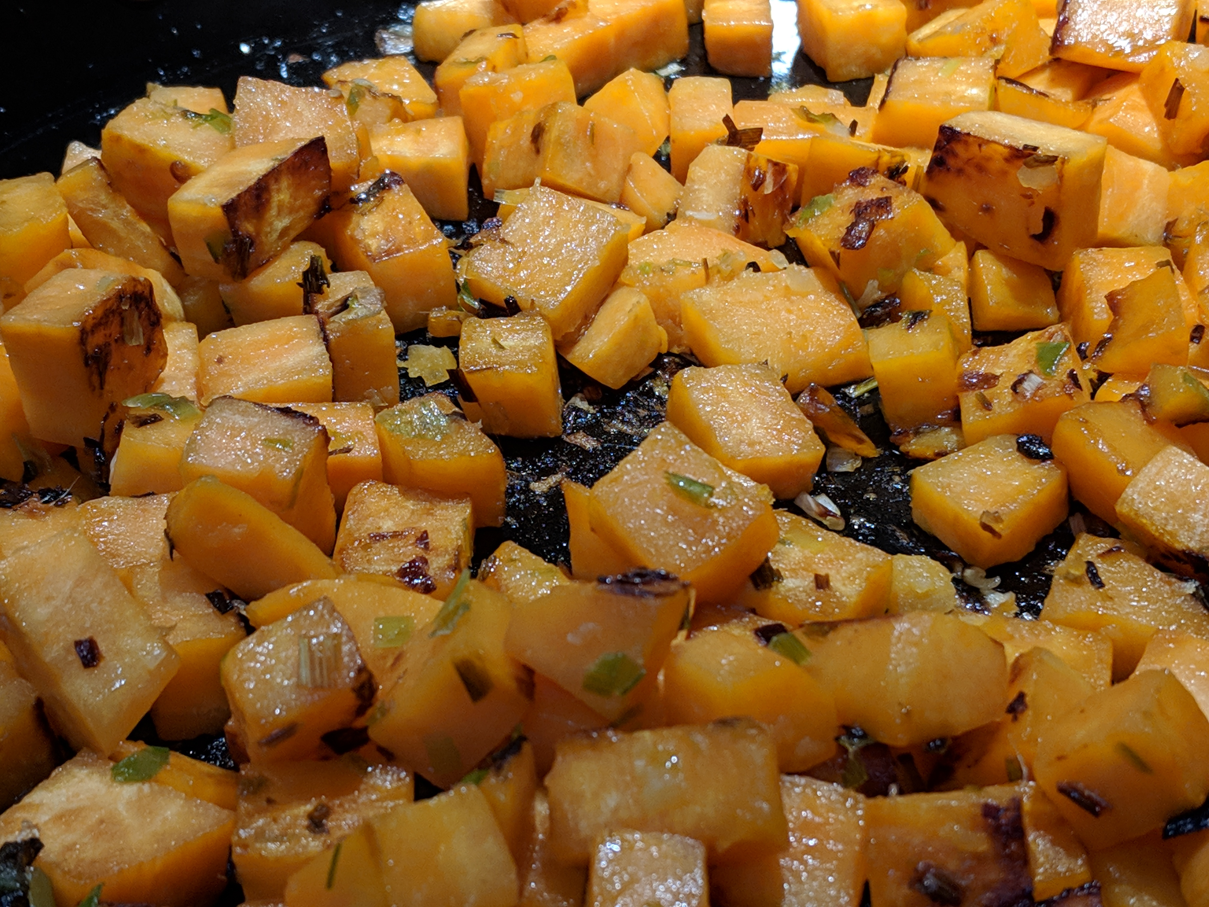 Sweet Potatoes and Garlic and Ginger Roasting